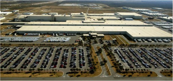 Toyota Manufacturing aerial view